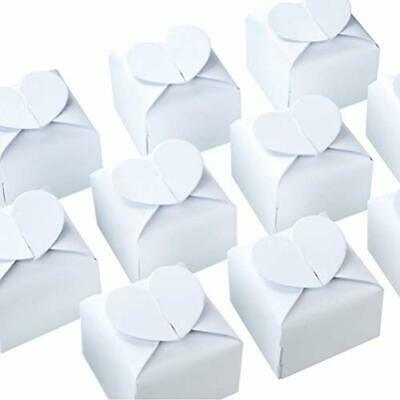 White Candy Box Bulk Gift Boxes 2.5x2x2.5 Inches With Heart Bow Party Favor Of
