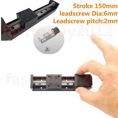 150mm Z Axis Linear Rail Slide Stage Module 2mm Pitch Nema11 Stepper Motor Cnc