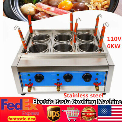 Commercial Electric Noodles Cooker Pasta Cooking Machine Pasta Marker 6 Baskets
