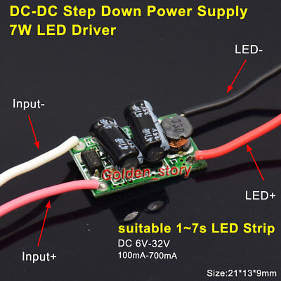 1w7w Led Driver Power Supply Module 100ma700ma Dc-dc Step Down Volt Converter