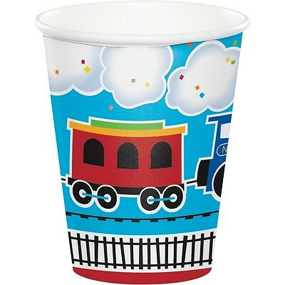 thday Party Supplies Cups (Train Birthday Party Supplies)