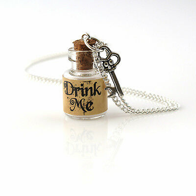 Alice wonderland drink me necklace party bag filler gift ideas birthday gift  Birthday Gift Bag Ideas