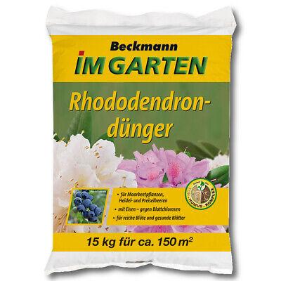 Beckmann Fertilizante de Rhododendron 15KG Abono Hortensias