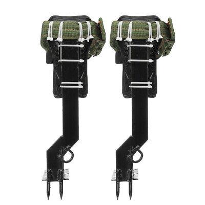 Adjustable Tree Climbing Spike Set 2 Gears Safety Belt Lanyard Rope Rescue Belt
