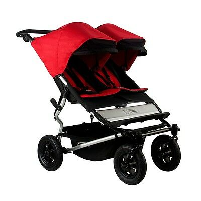 Mountain Buggy 2015 Evolution Duet Double Stroller - Chilli  New! Free Shipping