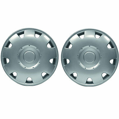 "Pair Of 13"" Inch Silver Jupiter Caravan Motorhome Wheel Trims Rims Hub Caps"