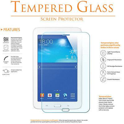 "Premium Tempered Glass Film For Samsung Galaxy Tab E 3 Lite 7.0"" T110 T111 T116"