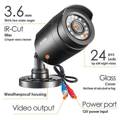 ZOSI 8CH 720P 4 in1 DVR Außen Überwachungskamera Set CCTV System 1TB + Geschenk