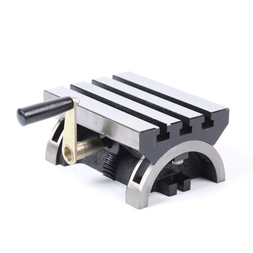 """7/"""" Adjustable Swivel Angle Plate Tilting Table For Milling Machines Heavy Duty"""