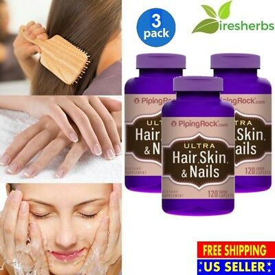 #1 BEST ULTRA HAIR, SKIN & NAILS MULTIVITAMIN PILL SUPPLEMENT 360 COATED (Best Hair Skin And Nails Pills)