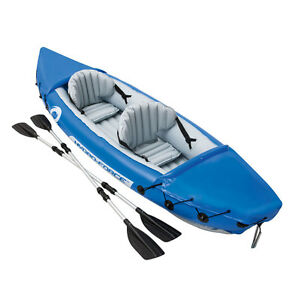 Bestway LITE-RAPID Inflatable Sea Kayak Canoe Boat for Kayaking Fishing Double