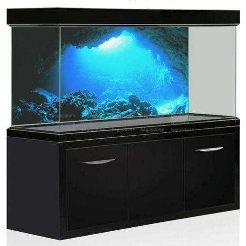 Underwater Cave Sunlight Aquarium Background Sticker Blue Backdrop Decorations