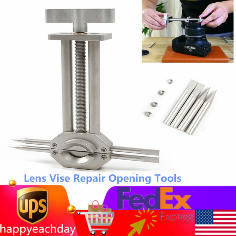 Lens Vise Repair Opening Tools Spanner Wrench Camera Loupe Telescope Watch+2 tip