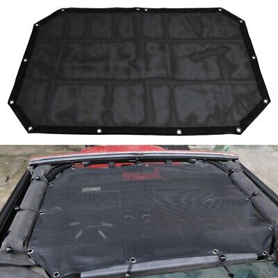 Used, Sun Shade UV Protection Mesh Top Cover For 07-17 Jeep Wrangler JK/JKU 2-Door for sale  USA