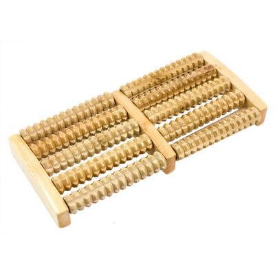 Manuelle Massagegeräte Fußmassageroller Mit Gumminoppen Holz 48 Rollen Reflexzonenroller Fuß Wellness