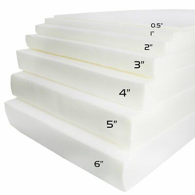 Firm Foam Rubber Cushion Replacement Sheet-Great For Boat Seats Benches -