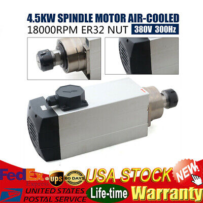 Er32 4.5kw Spindle Motor Air-cooled 380v 4bearings 18000rpm Cnc Router Milling