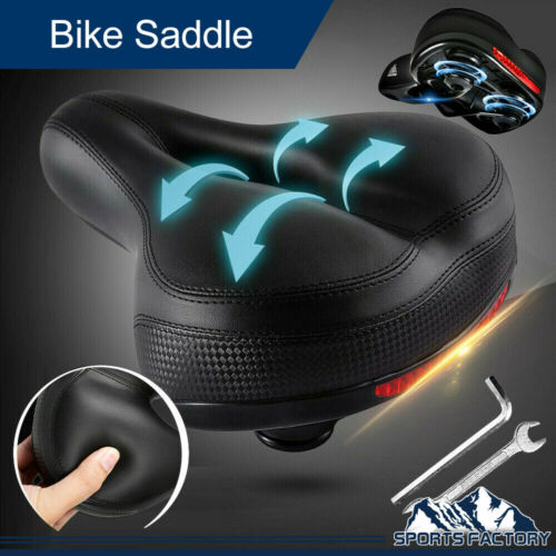 Comfort Wide Big Bum Soft Gel Cruiser Bike Saddle Bicycle Se