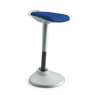 Hon Perch Stool Sit To Stand Backless Stool For Office Desk Blue Hvlperch