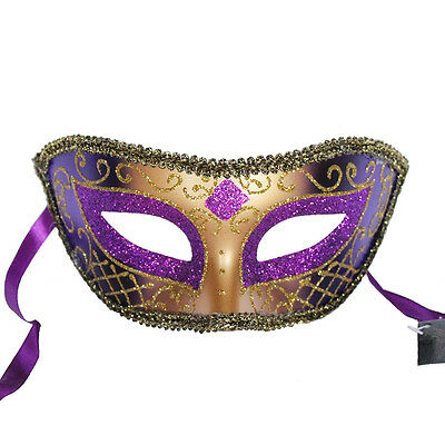Purple Venetian Mask Masquerade Ball Prom Party Mardi Gras Halloween - Purple Venetian Mask