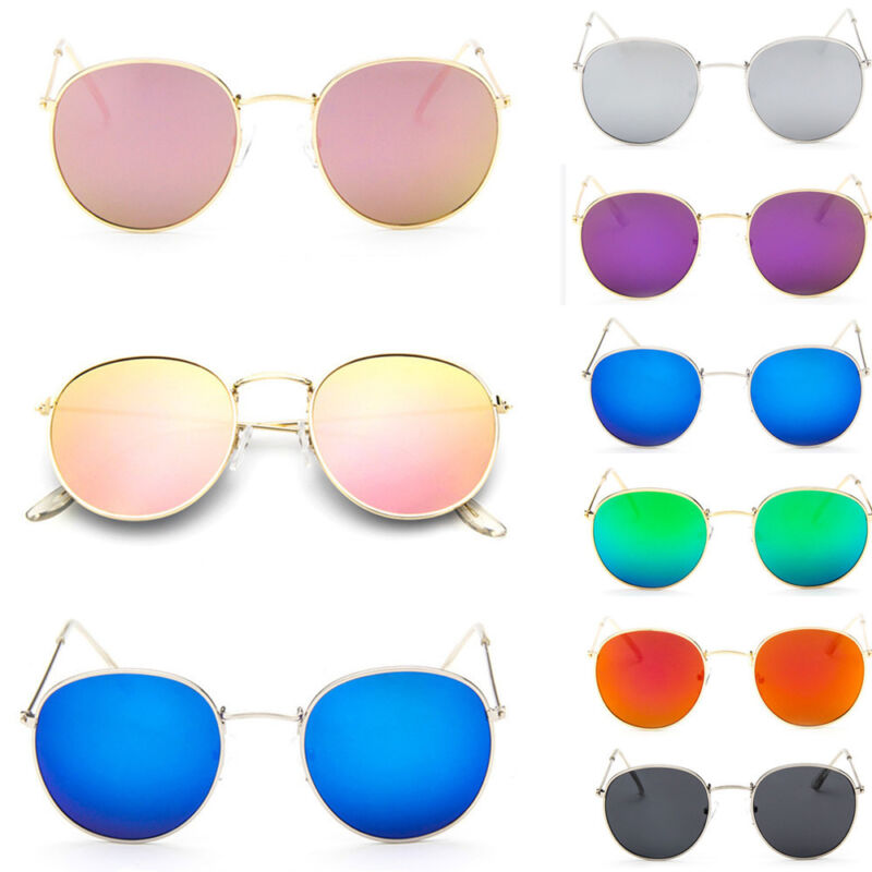 New Fashion Men Women's Round Sunglasses  Vintage Retro Over