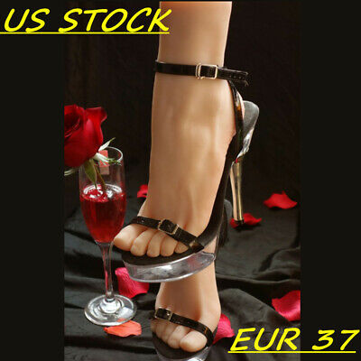 One Left Or Right Lifelike Female Feet Shoes Displays Model Legs Mannequin 37