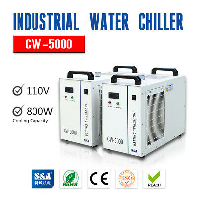 Usa Sa 110v Cw-5000dg Industrial Water Chiller For 80w 100w 120w Laser Tube