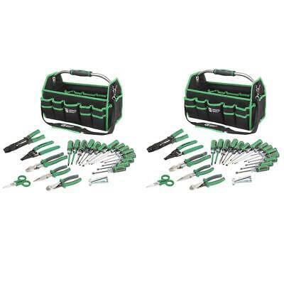 2 Pack 22 Piece Electricians Tool Set Organize Carry Bag Home Workshop Jobsite
