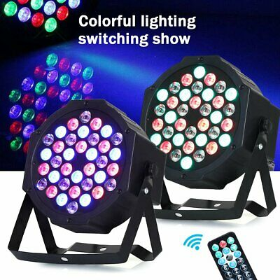 2Pc Sound Active 36 LED Par Stage Lighting Projector DMX Disco DJ Party Light UK