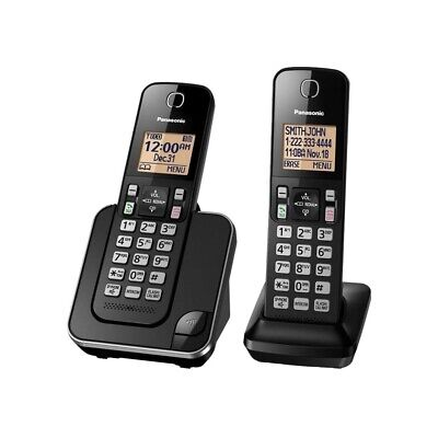 Panasonic - KX-TGC352B DECT 6.0 Expandable Cordless Phone System - Black