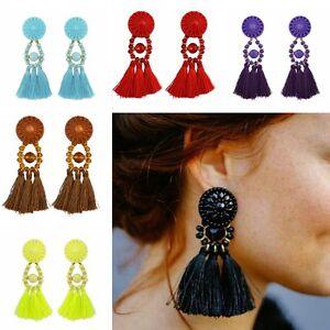 Mujer-Bohemia-pendientes-Colgante-gota-zarcillos-Aretes-joyeria-Earrings