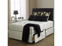 *SPECIAL OFFER*BRAND New Double and King Divan Base Bed With DEEP QUILT ORTHOPEDIC Mattress