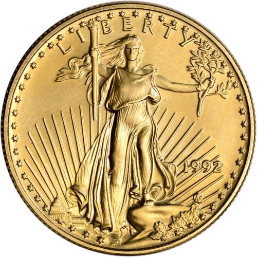 1992 American Gold Eagle 1/2 oz $25 - BU
