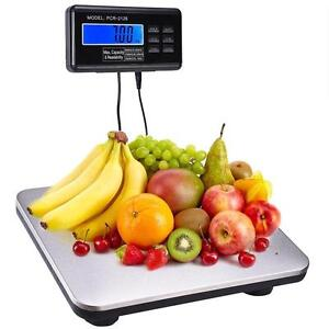 440lbs/200 KG -  LCD AC Digital Floor Bench Scale Postal Platform Shipping  - FREE SHIPPING