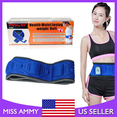 Electric Waist Belly Loss Weight Belt Slimming Auto Fat Burner Fitness Massage