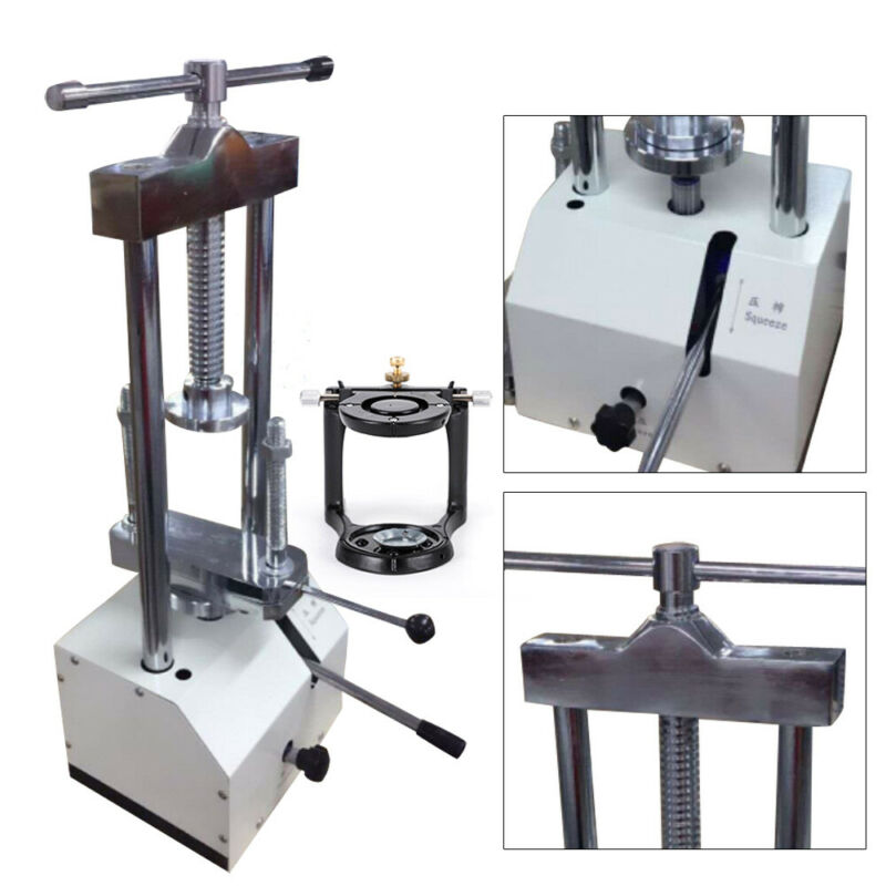 Dental Dentistry Lab Hydraulic Press Flask Presser Pressure Lifting+ Articulator
