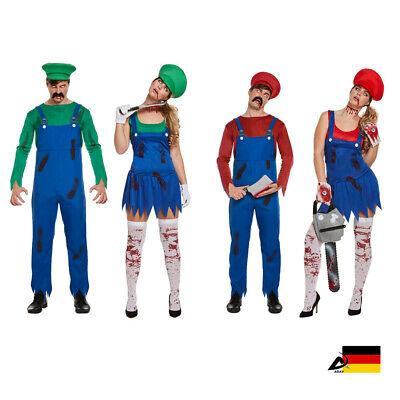 HERREN ZOMBIE SUPER ARBEITER ARBEITERIN KOSTÜM Halloween Fasching - Super Halloween Kostüme