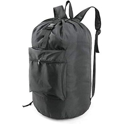 BeeGreen Laundry Bag Backpack With Adjustable Shoulder Straps And Drawstring For