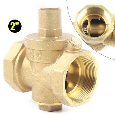 2 New Pressure Reducing Valve Brass Water Pressure Regulator Relief Valve Dn50