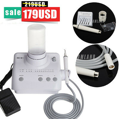 Dental Ultrasonic Piezo Scaler With Handpiece Tips Water Bottles Ems Woodpecker