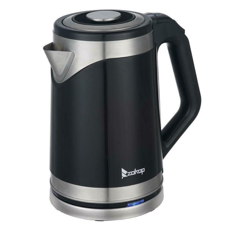 Zokop 1500W 1.8L Electric Auto Tea Kettles Hot Water Boiler Coffee Black 2020 US