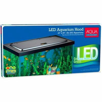 55 Gallon Tank - LED Aquarium Hood for 20/55 Gallon Aquariums Lights Glow Fish Tank Cover Black