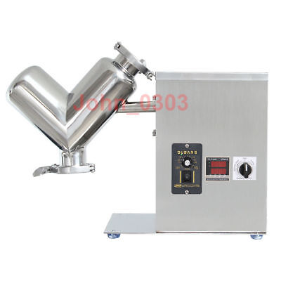 2L Lab Shear V Type Dry Powder Mixer Blender Mixing Machine Blending Machine US