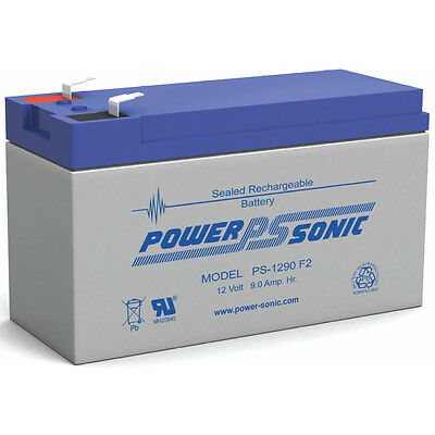 POWER SONIC 12v 9ah Sla Battery Replaces Cp1290 6-dw-9 Hr...
