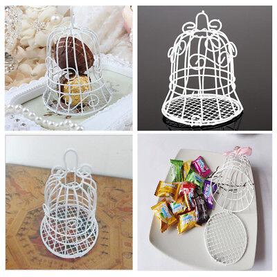 Mini  White Bird Cage Wedding Gift Box Favours Metal Birdcage Candy Decor - Mini Gifts