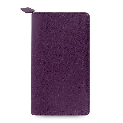 Filofax Compact Zip Pennybridge Organiser Diary Book Purple Leather-look Student