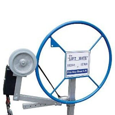 12V Lift Mate with Quick Connect to Boat Battery Boat lift Wheel Drive Motor](lift mate boat lift motor)