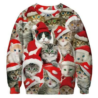 2019 Mens Womens Ugly Christmas Sweater Sweatshirt Hoodie Xmas Jumper Pullover ()