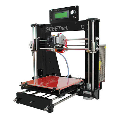 Geeetech 3D printer Prusa I3 Print 5 filaments MK8 extruder LCD Panel
