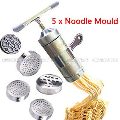 الة صنع المعكرونة جديد Stainless Steel Pasta Noodle Maker Fruit Juicer Press Spaghetti Kitchen Machine